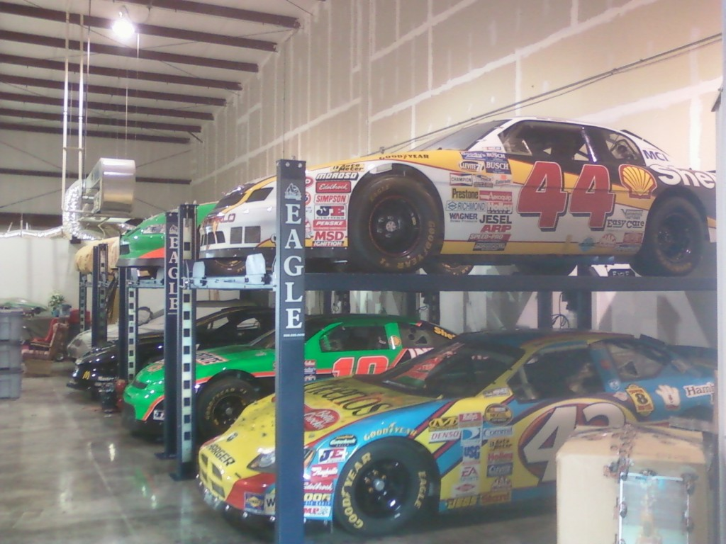 Bobby Labonte Race Car Storage Lifts